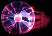 Плазменный шар 5 дюймов, плазменный шар светильник, плазменный шар с молниями Plasma, ночник, шар теслы