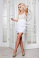 Вечернее платье-мини с каскадом длинных ниточек. (1997)