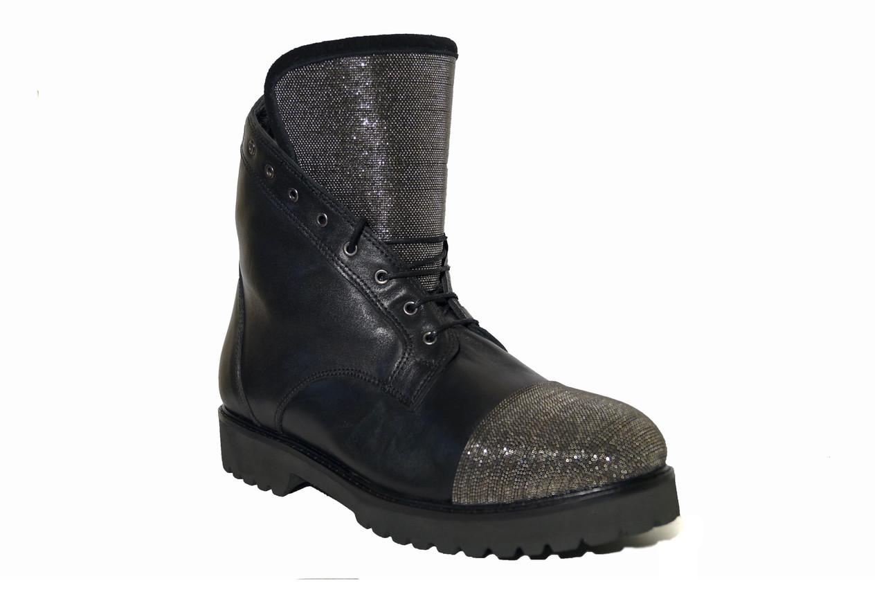 dc6f413c99d6 Зимние женские кожаные ботинки низкий ход