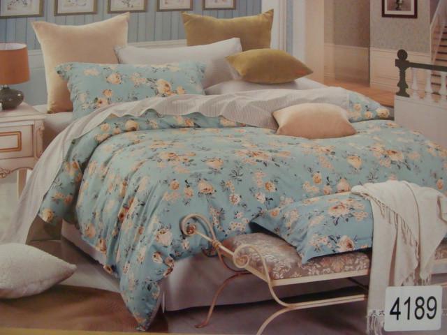 Сатиновое постельное белье полуторное ELWAY 4189