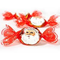 Шоколадные новогодние  конфеты   Дед Мороз российская фабрика Шоколадный кутюрье