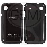 Задняя панель батареи (крышка аккумулятора) для SAMSUNG GT-i9000 Galaxy S, черная оригинальная (Китай)