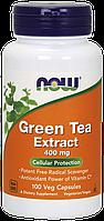 Экстракт зеленого чая, Green Tea Extract 400mg Now Foods, 100 caps
