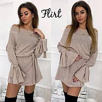 Теплое платье с поясом тв-11009-1