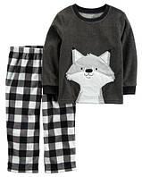 Пижама флисовая на мальчика 3-4-5 лет Лисенок Carter's (США)