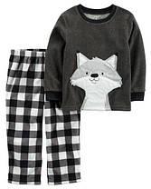 Пижама флисовая на мальчика 3, 5 лет Лисенок Carter's (США)