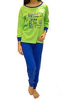 Пижама больших размеров женская кофта с брюками домашний комплект Украина