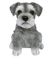 Статуэтка (копилка) собака щенок Шнауцера цветной