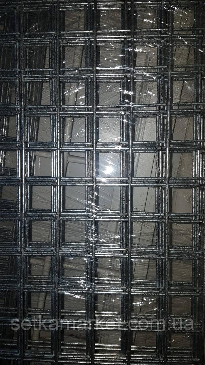 Сітка зварна, осередок 50х50 мм, діаметр 4 мм, розмір листа 1х2 м, чорна
