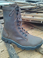 Берцы ботинки Данди коричневая кожа зима