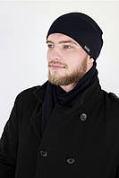 Шапка теплая из ангоры DISCORDIA NAVY KIM (шапка мужская, шапка женская, шапки)