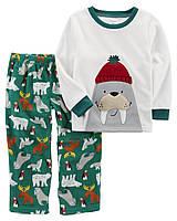 Пижама флисовая на мальчика 3-4-5 лет Морж Carter s (США) 8c33d285e725b