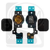 Шлейф для APPLE iPHONE 5C, черный, кнопки HOME (меню), оригинал (Китай)