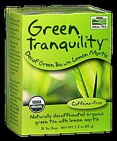 Зеленый чай без кофеина с миртом, Green Tranquility Tea Now Foods, 24 пак