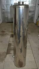 Титан водогрейный на дровах нержавейка без смесителя 80 литров (чугунная топка), фото 2
