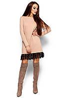 Платье теплое с гипюром Грейсон