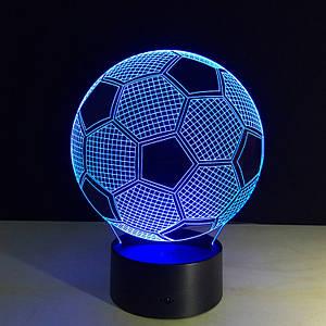 3D лампа  Мячик