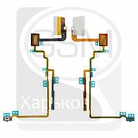 Шлейф для APPLE iPod Nano 7G, белый, коннектор наушников, кнопки включения, кнопок звука