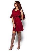 Платье свободное с поясом Валери