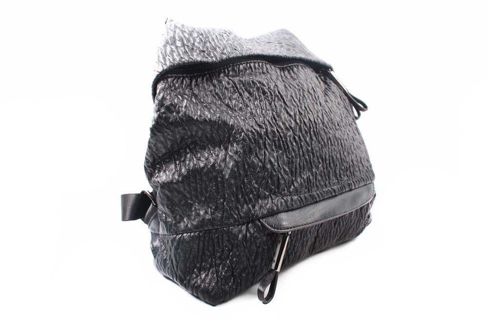 Стильный рюкзак, эко-кожа, цвет черный, размер средний
