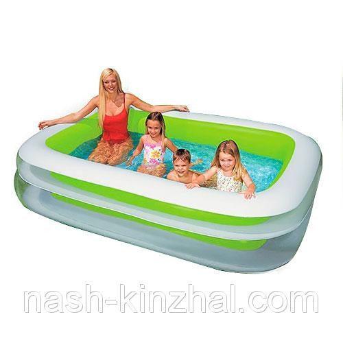 Надувной детский (прямоугольный) бассейн Intex 56483 семейный 262*175*56см
