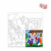 Холст с контуром Этюд Сказочные герои №5 Пан Коцкий 20х20 Rosa Start 285