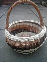 Корзина из лозы круглая с цельной лозы, фото 1