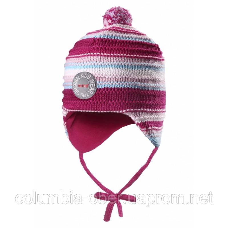 Зимняя шапка для девочки Reima 518437-3560. Размеры 46 - 52.