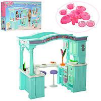 Мебель 2826 (12шт) кухня, шкаф, стол, стулья, посуда, в кор-ке,42,5-29-10см