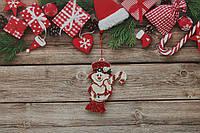 Новогодняя игрушка на елку снеговик с леденцом