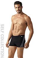 Классические темные мужские плавательные  шорты из новой коллекции Self-2017