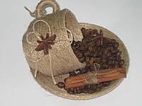 Блюдце и чашка с палочкой корицы, фото 1