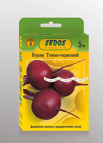 Семена на ленте свекла Темно-красная, фото 2