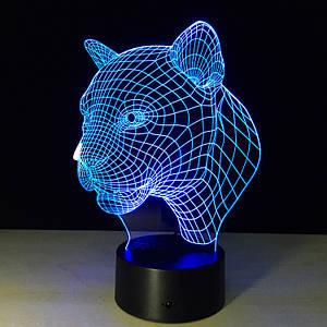 Светильник 3D Пантера