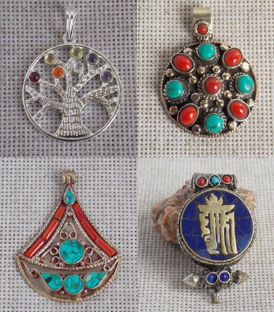 Индийские и тибетские кулоны и амулеты