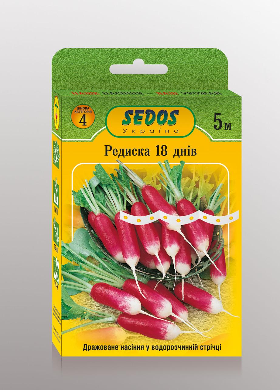 Семена на ленте редис 18 дней