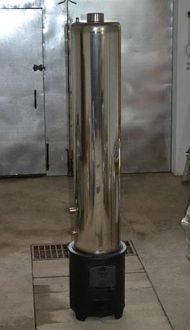 Водонагреватель-титан на дровах 80 литров из нержавейки со смесителем, фото 2