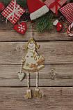 Новогодняя игрушка подвесная девочка с сердцем ,3D эффект, фото 3