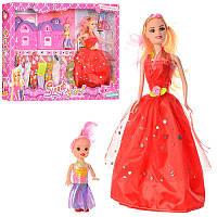 Кукла с нарядом YX004A3 (27 см, дочка 10 см, домик