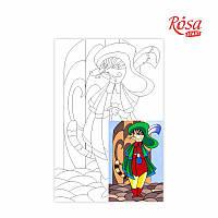 Холст с контуром Этюд Сказочные герои №3 Кот в сапогах 20х30 Rosa Start 223