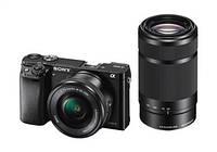 Фотоаппарат Sony Alpha 6000 + объектив 16-50 + 55-210mm kit Black ( на складе ) гар. 24 мес.