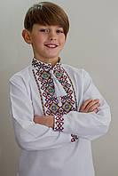 "Вишиванка для хлопчика ""Квадрати"" 116"