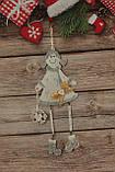 Новогодняя игрушка подвесная девочка с сердцем ,3D эффект, фото 5