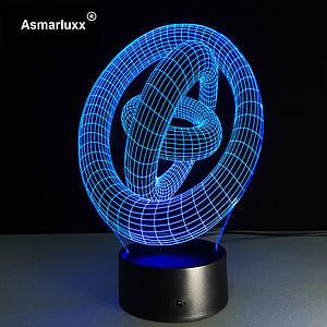 Светильник 3D Колечки