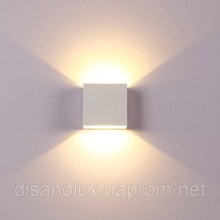 Светильник настенный WL- 6W LED 3000К 230в белый