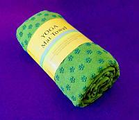 Полотенце для йоги зелёное (183х62 см)