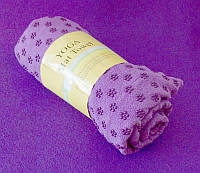 Полотенце для йоги фиолетовое (183х62 см)