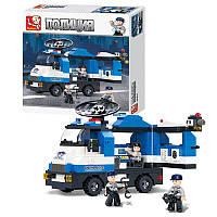 Конструктор SLUBAN M38-B0187 (32шт) полиция, машинка, фигурки 3шт, 265дет, в кор-ке, 28,5-28,5-5см