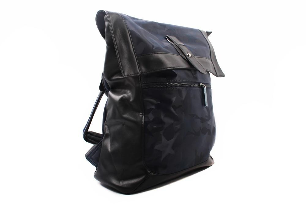 Рюкзак текстильный, цвет синий, размер средний, прямоугольная форма