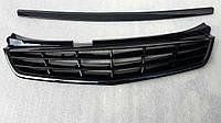 Решетка радиатора Лада Приора SE рестайлинг люкс черная с верхним молдингом